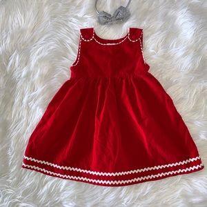 Princess Linens Bright Red Jumper Dress 4T